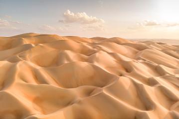 Poster de jardin Desert de sable aeril view of Liwa desert, part of Empty Quarter, the largest continuous sand desert in the world