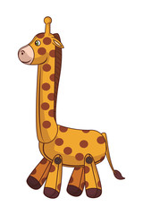 Teddy giraffe cartoon