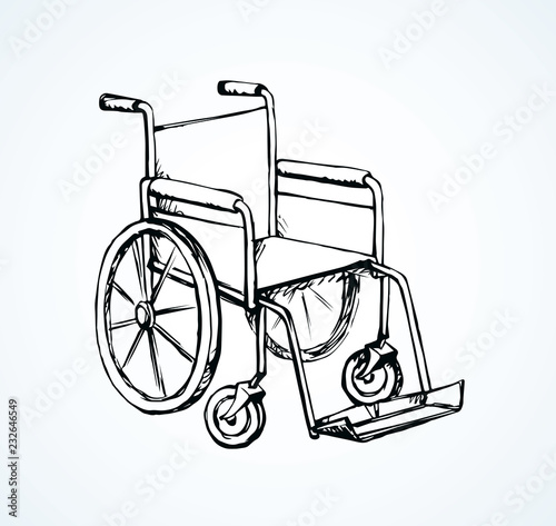 Wheelchair Vector Drawing Stock Image And Royalty Free Vector