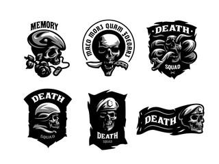 Set of Skull emblems.