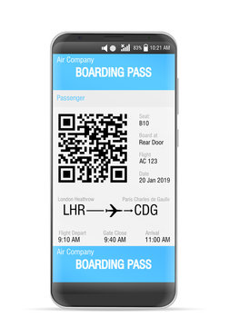 Boarding pass mobile