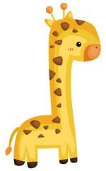 a vector of a cute giraffe