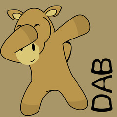 dab dabbing pose camel kid cartoon in vector format very easy to edit