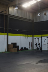 Indoors corner of a gym o fitness club for athletes