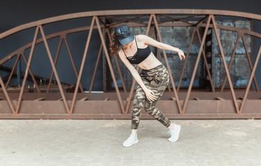 Young hip hop dancer