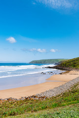 a private, secluded beach on the coastline of South Australian