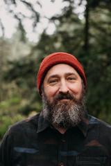 Portrait of Bearded Man in the Woods