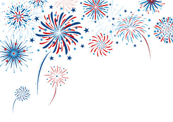 Fireworks design on white background vector illustration Fototapete