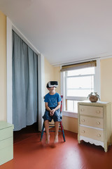Young Boy Gettin' his VR Groove on