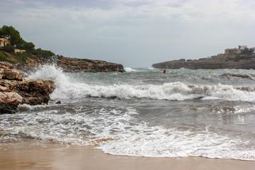 Meer Küste Sturm Welle