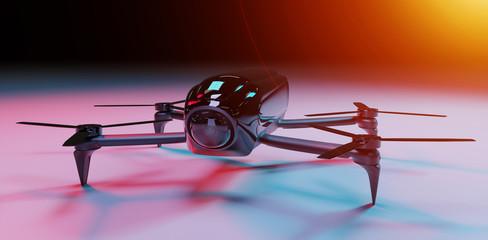 Modern drone 3D rendering