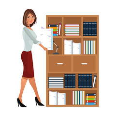 Executive businesswoman cartoon isolated