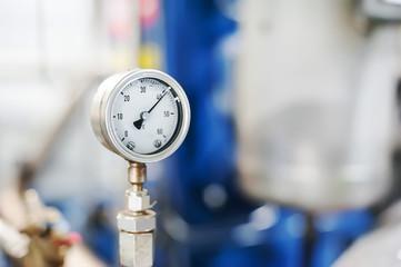 7425552 Pipe Manometr of air compressor - measure air pressure. Manometric thermometer.