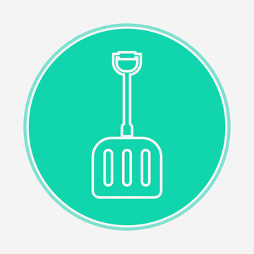 Snow shovel vector icon sign symbol