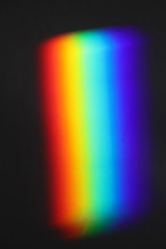 Close Up Of A Rainbow Made By A Prism