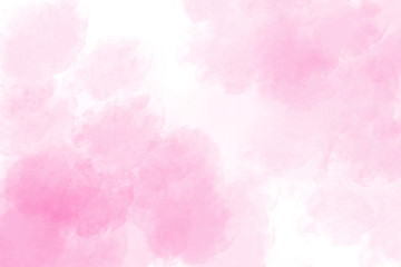 Abstract pink background watercolor splash style for backdrop or valentine card decoration