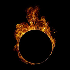 Ring fire in black