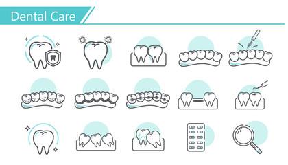 Dental care concept Icon