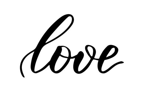 Brush calligraphy Love