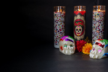 Items for the day of the dead