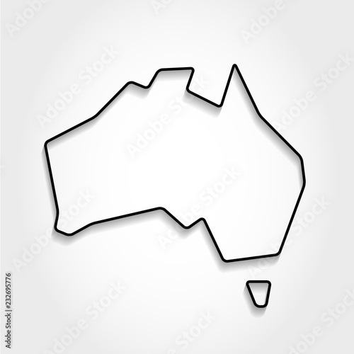 Map Outline Australia.Australia Black Outline Map Stock Image And Royalty Free Vector