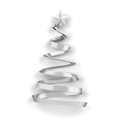 Minimalistic style christmas tree with a star