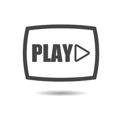 Black Video button, Play button, icon or logo