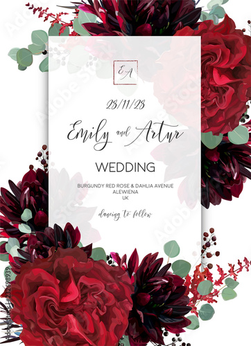 u0026quot wedding invite  invitation save the date card design  red