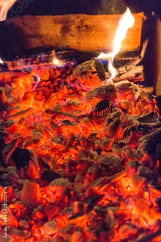 To Make A Fire Heat From Embers Hot Coal Fire Barbecue And