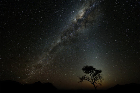 Milky way over the Namib desert