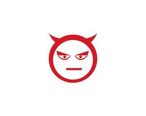 Devil face logo vector