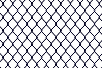 Fence black background - vector for stock