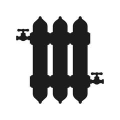 Heating radiator sign – stock vector