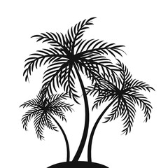 Palm tree silhouettes – vector illustration