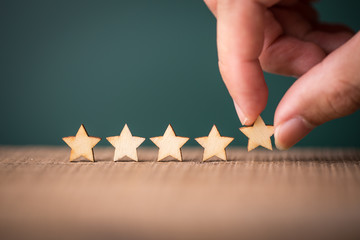 The best excellent business services rating customer experience concept