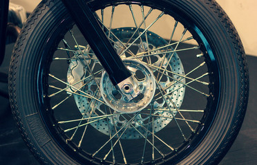 The Wheel from Vintage Motorcycle