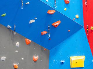 Indoor rock climbing gym