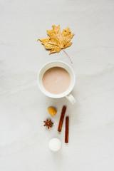 Autumn cozy composition