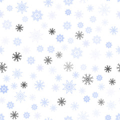 Light Purple vector seamless texture with colored snowflakes.