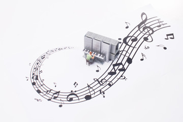a fun of figure play the Piano
