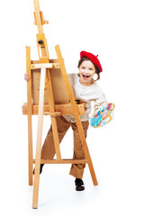 young funny painter