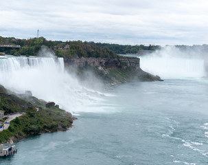 Niagara Falls with American and Horseshoe falls