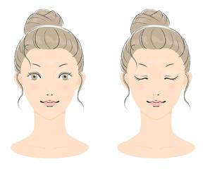 若い女性の美容イメージ01