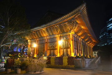 Jogyesa buddhism temple in Seoul, South Korea