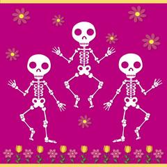 skulls with flowers 3
