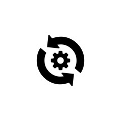 Conversion rate optimization icon illustration isolated vector sign symbol.Conversion settings