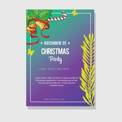 Christmas Party Poster Card Design