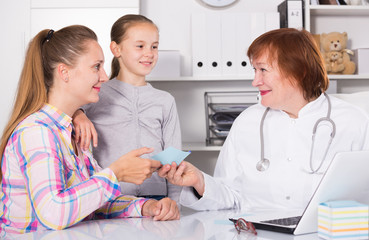 Doctor leading medical appointment
