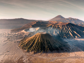 Aerial view Mount an active volcano Bromo, Batok and Semeru Wall mural