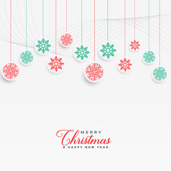 lovely christmas snowflakes hanging background